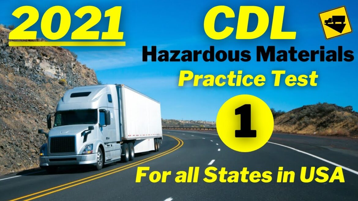 Truck Driving Jobs, Trucking Job, CDL Driving Jobs, CDL Hazmat Practice Test